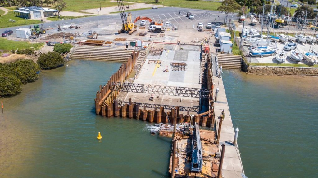 Hastings boat ramp upgrade construction